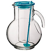 Bormioli Blue 2L Jug with Ice Stick