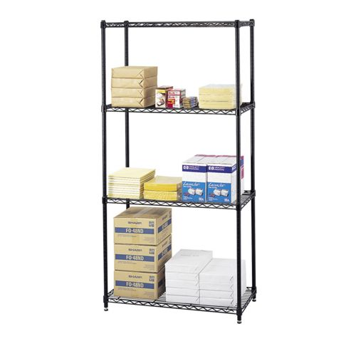 Safco Commercial Shelving Wire in Black
