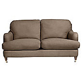 Florence Small Sofa Linen Effect Taupe