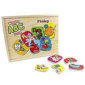 Personalised Kids Wooden ABC Puzzle Box