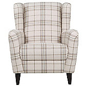 Sophia Wingback Herringbone Occasional Chair, ECRU Check