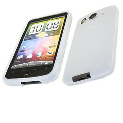 iTALKonline SoftSkin White Silicone Case - For HTC Desire HD