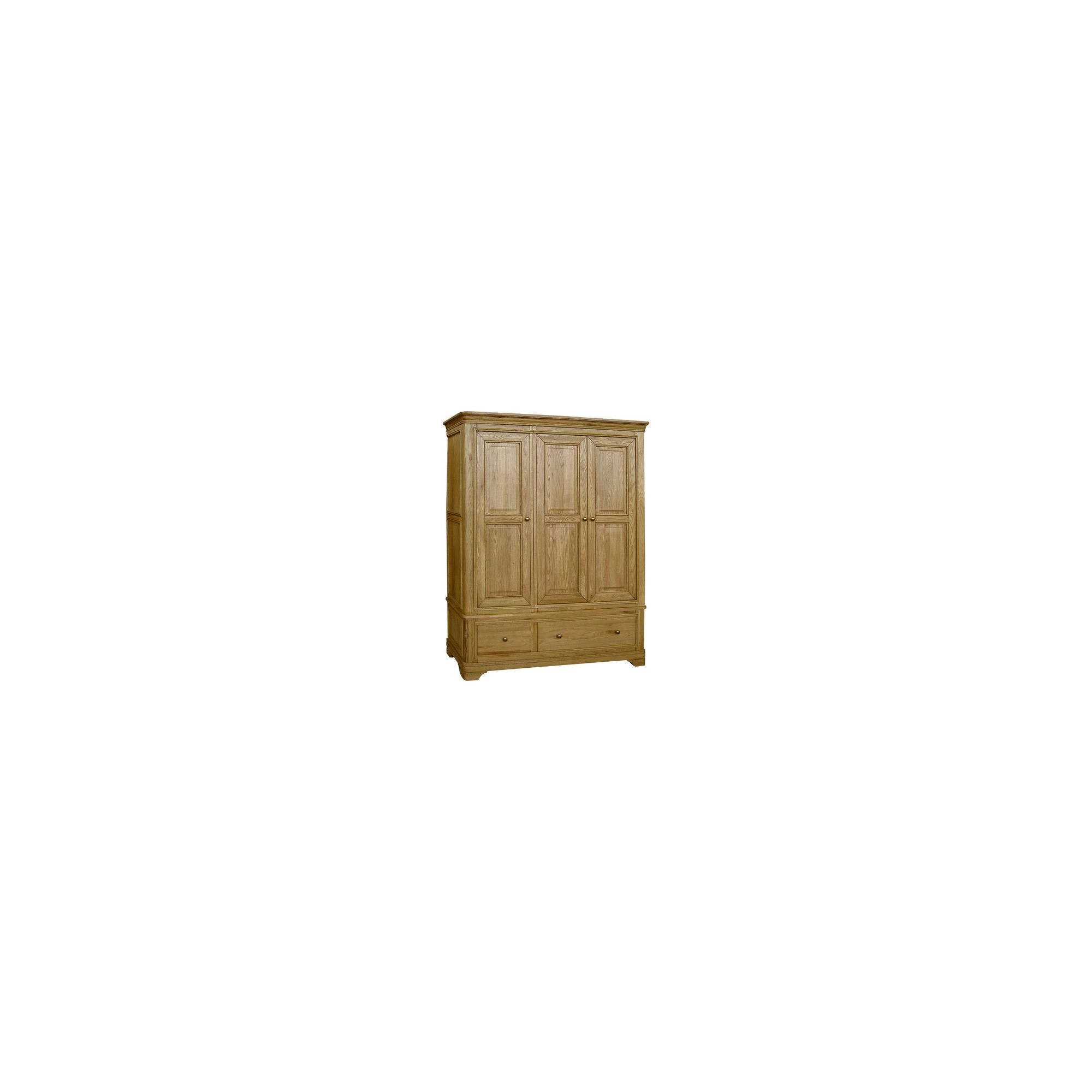 Kelburn Furniture Loire Triple Wardrobe in Light Oak Stain and Satin Lacquer at Tesco Direct