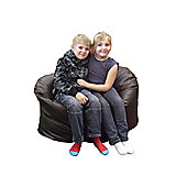 Ashcroft Indoor Small Bean Bag Sofa - Brown