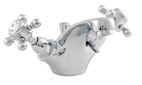 Ultra York Mono Basin Mixer with Pop-Up Waste in Chrome
