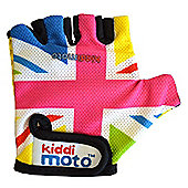Kiddimoto Gloves for ages 2 to 5 yrs - Rainbow Union Jack (Small)