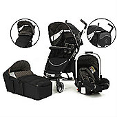 Petite Star Zia4X Travel System (Black Polka Dot)