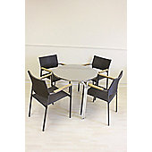 Cozy Bay Americano 4 Seater Bistro Dining Table with Syn-Teak Arm