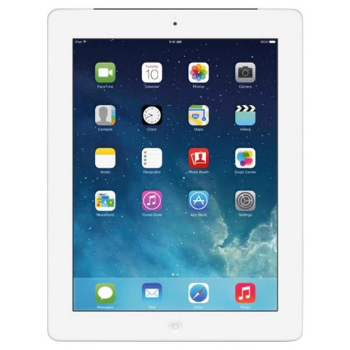 Apple iPad with Retina display, 16GB, WiFi & 4G LTE (Cellular) - Silver