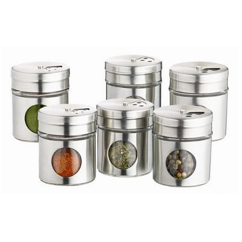 KitchenCraft Home Made Set of Six Spice Jar