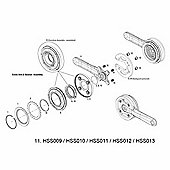 Truvativ Crankarms (L&R) for HammerSchmidt AM Cranks Tungsten Grey 175mm