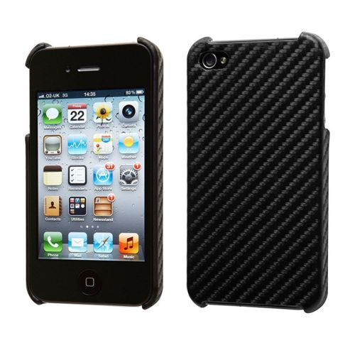 Groov-e GVIPHONE4CFBK iPhone 4/4S Carbon Fibre Case - Black