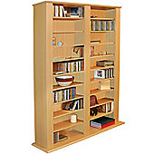 Genesis - Multimedia Cd Dvd Blu-ray Storage Shelves - Beech