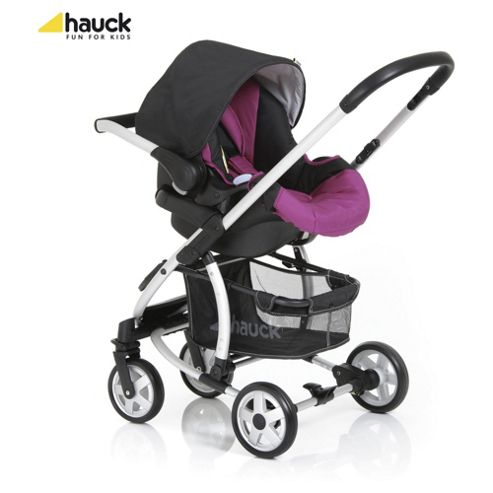 Hauck Malibu All-In-One Pushchair, Caviar/Berry