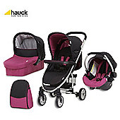 Hauck Malibu All In One Pushchair Caviar/Berry