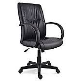 Conrad Black Faux Leather Office Chair