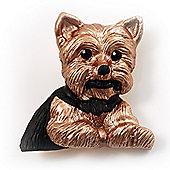 'Sitting Dog' Enamel Fashion Brooch