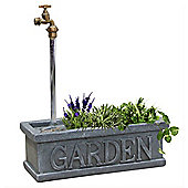 Indoor / Outdoor Tap And Trough Fountain - Grey / Green