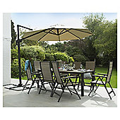 Coastal Aluminium Rectangular Garden Table, Seats 8