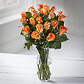 Simply Roses Orange Bouquet
