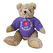 Bridesmaid Wedding Bear with Lilac Flower Jumper