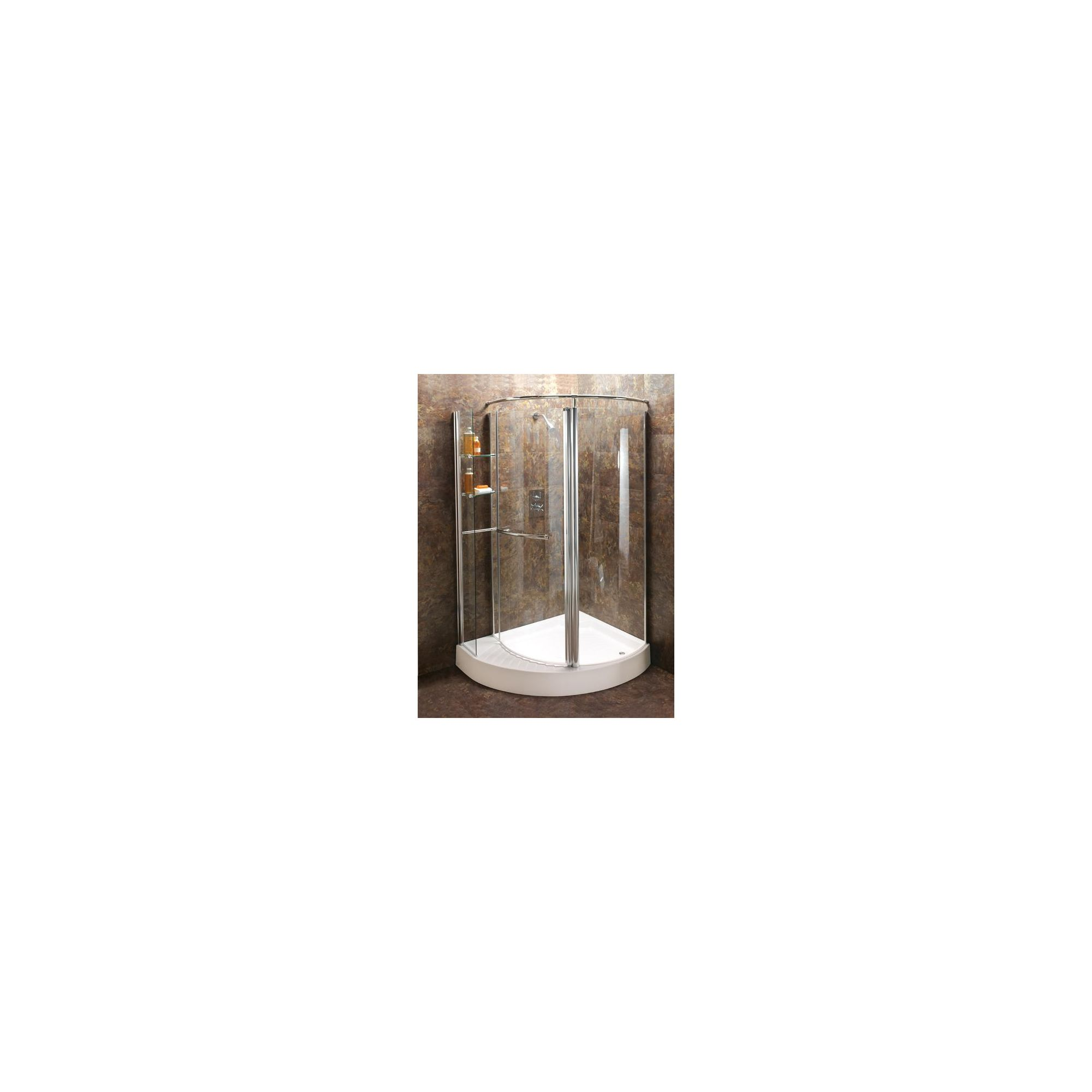 Balterley Offset Quadrant Shower Enclosure with Rotating Shelves, 1250mm x 1000mm, Standard Tray, Right Handed, 6mm Glass at Tesco Direct