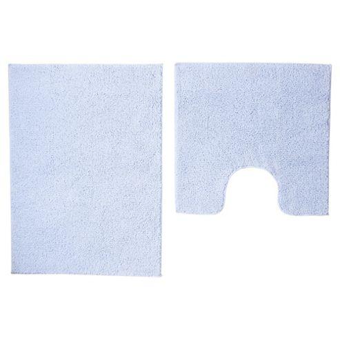 buy tesco basic bath mat set blue from our bath mats. Black Bedroom Furniture Sets. Home Design Ideas