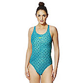 Speedo Endurance®10 Monogram Muscle Back Swimsuit - Turquoise