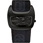 Marc Ecko Mens All Black Rubber Strap Watch E16077G2