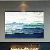Parvez Taj Mountain Tops Canvas Wall Art - 41 cm H x 61 cm W x 5 cm D