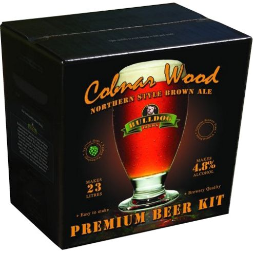 Bulldog Home brew beer kit - Cobnar Wood Northern Brown Ale - 40 pints