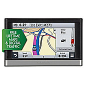 "Garmin nuvi 2568LMT Sat Nav, 5"" LCD Touch Screen with UK & Western Europe Maps & Free Lifetime Map Updates"