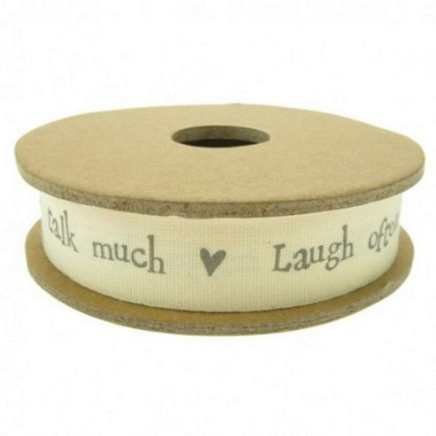 Ribbon Reel - Talk Much, Laugh Often, Sit Long - Cream and Grey