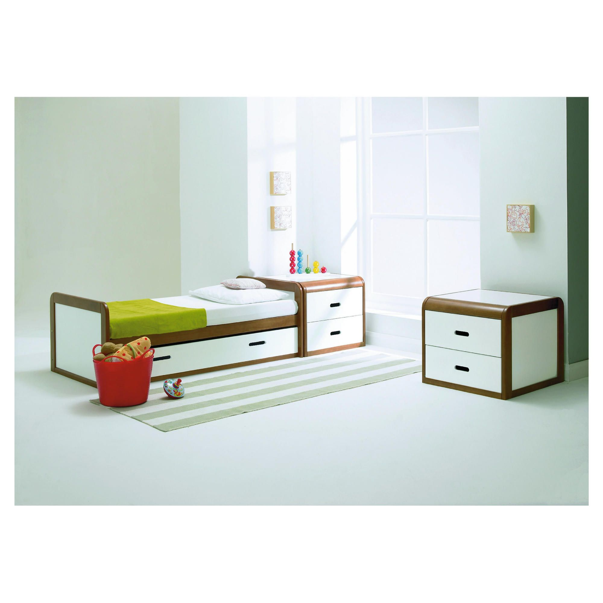 East Coast Rio 2 Piece Nursery Room Set, Cot bed & Chest, Cocoa and White at Tesco Direct