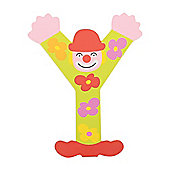 Tatiri TA425 Crazy Clown Wooden Letter Y