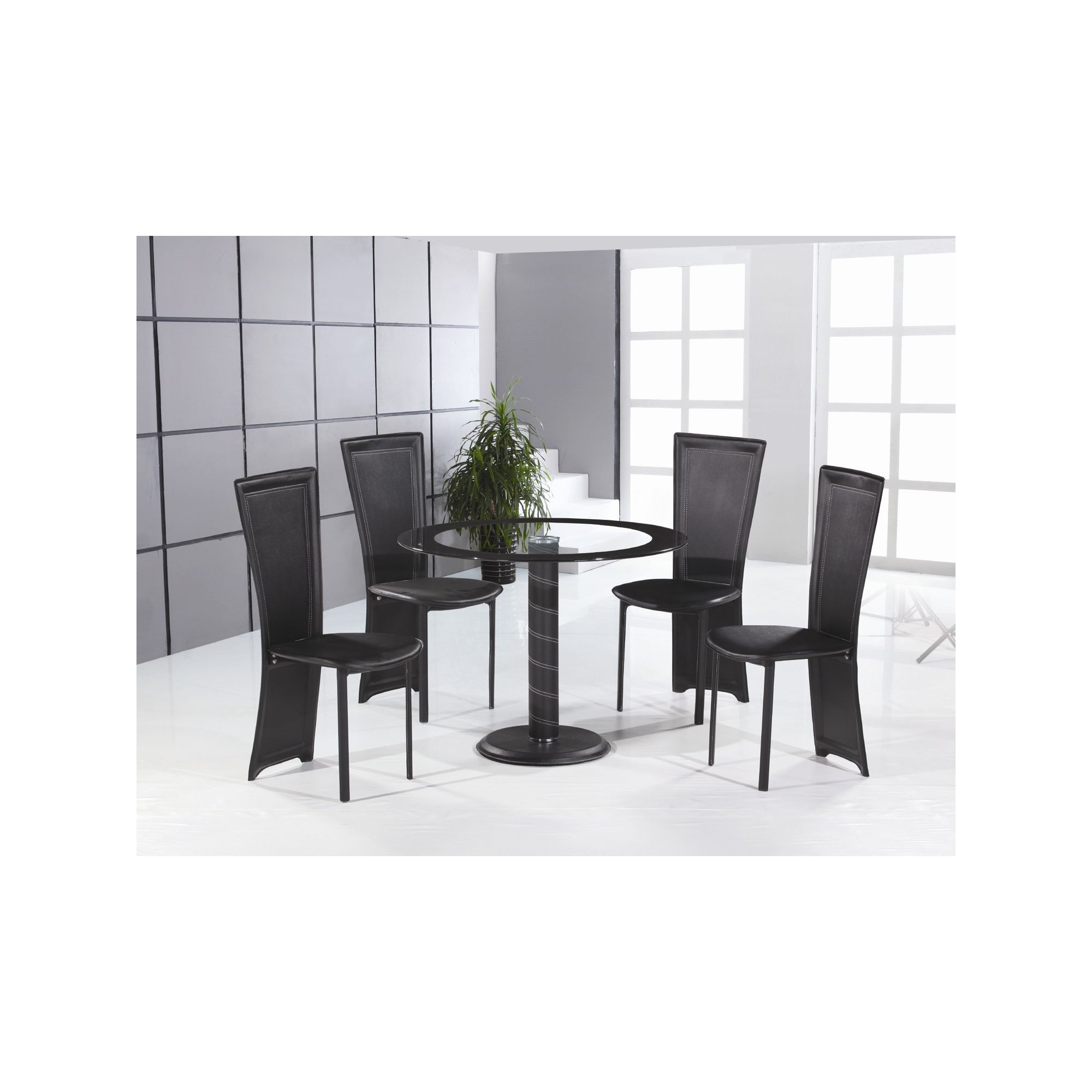 Home Zone Lenora 5 Piece Dining Set at Tesco Direct