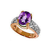 QP Jewellers Diamond & Amethyst Renaissance Ring in 14K Rose Gold
