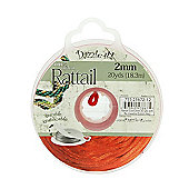 Rattail with Re-Useable Bobbin - Red - 20yds