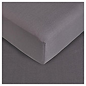 Tesco King Size Fitted Sheet, Charcoal Quartz
