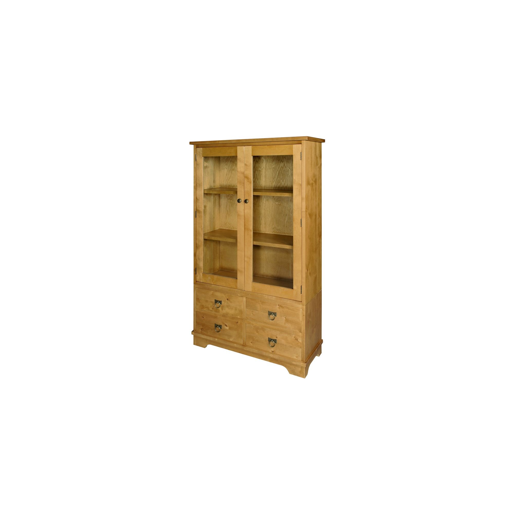 Wood Bros Burlington Glazed Bookcase - Whisky at Tesco Direct