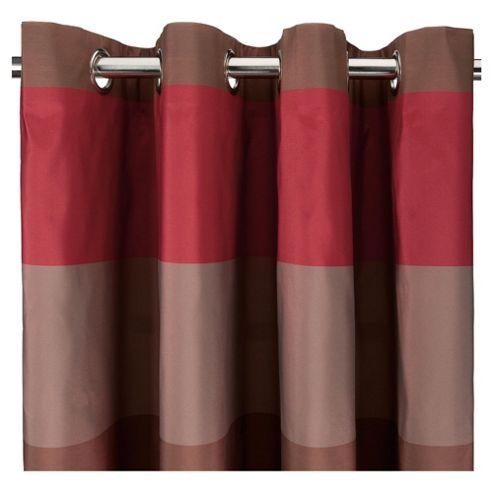 Tesco Stripe Taffetta Lined Eyelet Curtains W163xL183cm (64x72