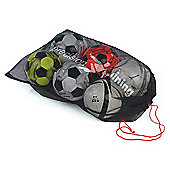 Precision Training 10 Ball Mesh Football Carry Sack with Cords