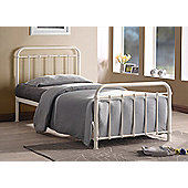 Ivory Traditional Hospital bed Inspired Sprung Slatted Bed Frame in 4FT6 Double