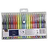 Tesco Coloured Gel & Ball Pen Set 20 Pack