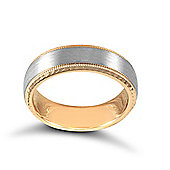 18ct White and Rose Gold Wedding Ring