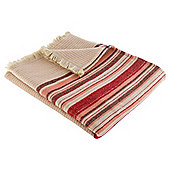 Traditional Stripe Throw, Red