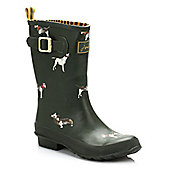 Joules Womens Green Groundhog Wellington Boots - Green