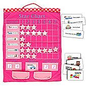 Fiesta Crafts Pink Hanging Star Reward Chart