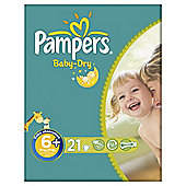 Pampers Baby Dry Size 6+ Carry Pack - 21 nappies