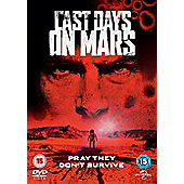 Last Days On Mars DVD